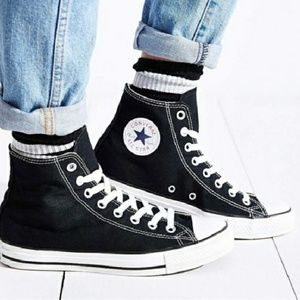 Converse All Star Black High Tops size 8